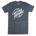 Cycling People CP Logo férfi rövid ujjú organikus pamut póló (Dark Heather)