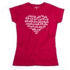 Cycling People Heart női póló (Ant Cherry Red)