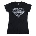 Cycling People Heart női póló (Fekete)