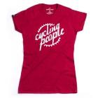 Cycling People CP logo női póló (Ant Cherry Red)