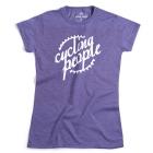 Cycling People CP logo női póló (heather purple)