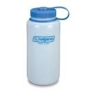 Nalgene Bootle HDPE 1 L széles nyílású műanyag palack (Átlátszó)