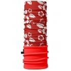4Fun Flower Red Polartec többfunkciós csősál