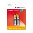 AgfaPhoto Lítium AAA Mikro elem (2 db)