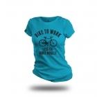 Cycling People Bike To Work női pamut póló