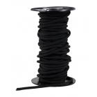 Gilmonte 2 mm-es fekete kötélgyűrű