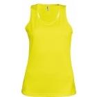 ProAct női ujjatlan technikai póló (fluorescent yellow)
