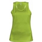 ProAct női ujjatlan technikai póló (lime)