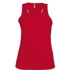 ProAct női ujjatlan technikai póló (red)