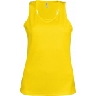 ProAct női ujjatlan technikai póló (true yellow)